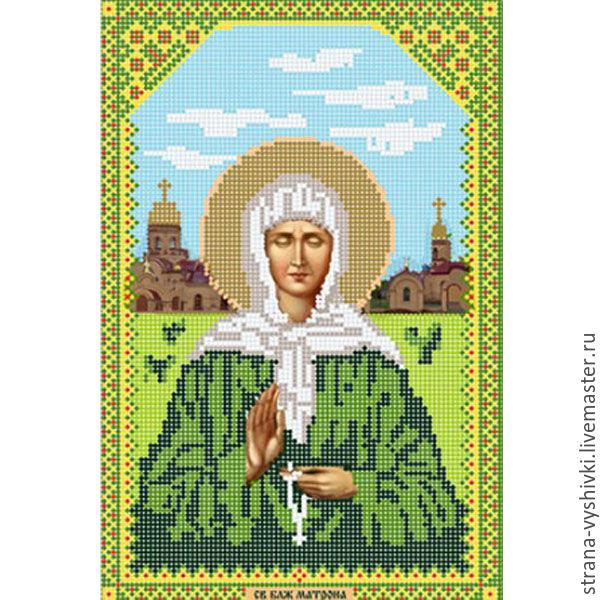 Вышивка крестом иконы матрона московская 65