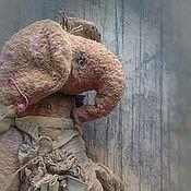 """Куклы и игрушки ручной работы. Ярмарка Мастеров - ручная работа """"Слониха с ежиком и луной)))"""" слоник тедди. Handmade."""