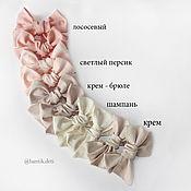 Резинка для волос ручной работы. Ярмарка Мастеров - ручная работа Бантики в ассортименте, заколка, повязочка, резинка. Handmade.