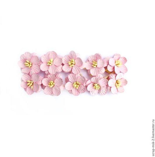 Открытки и скрапбукинг ручной работы. Ярмарка Мастеров - ручная работа. Купить Цветы вишни 300202 Светло-розовый ScrapBerry's. Handmade.