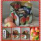 Короб для специй `Яблочко`. Ярмарка Мастеров.Кухня. Кухонные принадлежности.