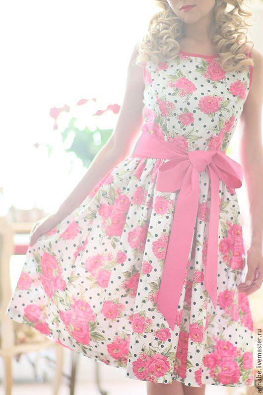 Платья ручной работы. Ярмарка Мастеров - ручная работа. Купить Платье Lets Pin Up Хлопок 100%. Handmade. Разноцветный