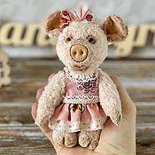 Куклы и игрушки handmade. Livemaster - original item Pig Teddy. Handmade.