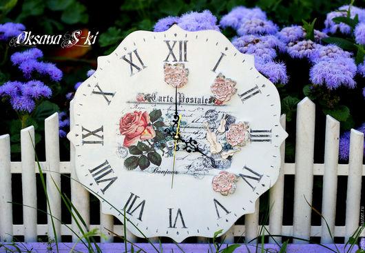 Часы для дома ручной работы. Ярмарка Мастеров - ручная работа. Купить Часы настенные. Handmade. Белый, прованский стиль