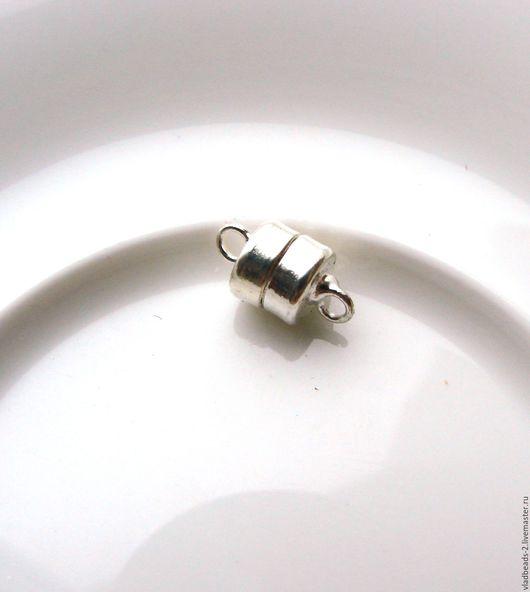 Для украшений ручной работы. Ярмарка Мастеров - ручная работа. Купить Замочек магнитный 6х5мм цвет под серебро. Handmade.