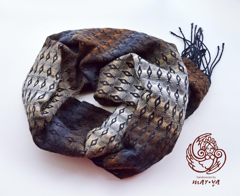 Scarf Diamond pattern hand weaving, Scarves, Smolensk,  Фото №1