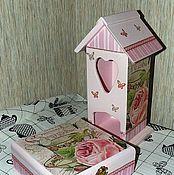 """Для дома и интерьера ручной работы. Ярмарка Мастеров - ручная работа Чайный домик """"Розовый чай"""". Handmade."""