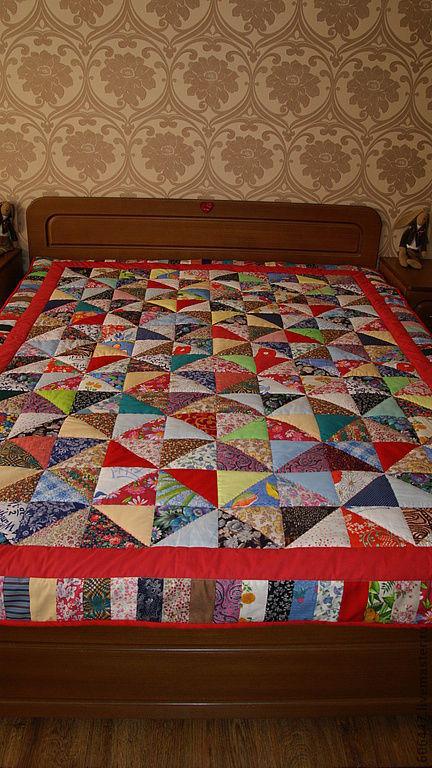"""Текстиль, ковры ручной работы. Ярмарка Мастеров - ручная работа. Купить Лоскутное одеяло """"Бабулино"""". Handmade. Лоскутное одеяло"""