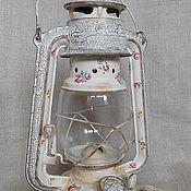 """Для дома и интерьера ручной работы. Ярмарка Мастеров - ручная работа керосиновая лампа """"Старинный ситец"""". Handmade."""