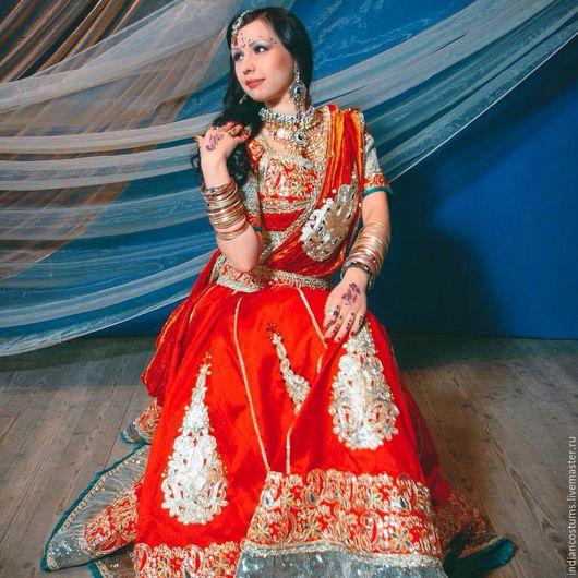Танцевальные костюмы ручной работы. Ярмарка Мастеров - ручная работа. Купить Костюм для индийского танца. Handmade. Комбинированный, индийский орнамент