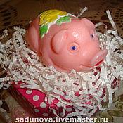 """Косметика ручной работы. Ярмарка Мастеров - ручная работа детское мыло """"Хрюша"""". Handmade."""
