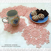 Для дома и интерьера handmade. Livemaster - original item Serving napkins, set of knitted napkin Pink clouds. Handmade.