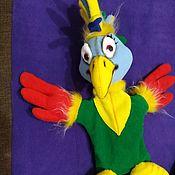 Куклы и игрушки handmade. Livemaster - original item Parrot. Glove puppets.. Handmade.