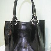 """Сумки и аксессуары ручной работы. Ярмарка Мастеров - ручная работа сумка кожаная """" Melena"""" черная. Handmade."""