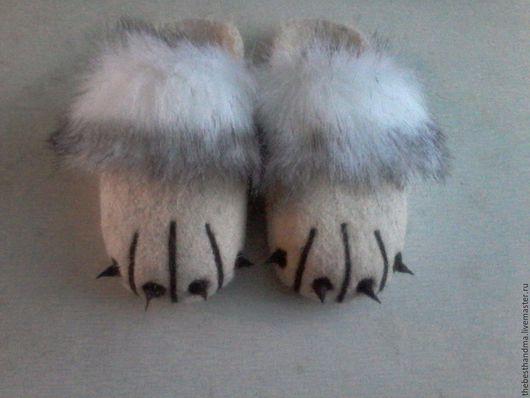 """Обувь ручной работы. Ярмарка Мастеров - ручная работа. Купить Тапочки """" Лапки"""". Handmade. Тапочки ручной работы"""
