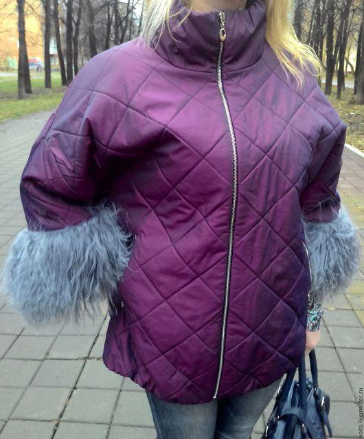 """Большие размеры ручной работы. Ярмарка Мастеров - ручная работа. Купить Куртка оверсайз """" ЛАМА"""". Handmade. Фуксия"""