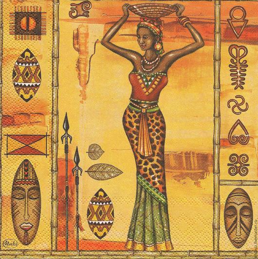 Арт. И-118 `Африканки` 1/4 часть салфетки