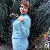 Одежда handmade. Livemaster - original item Down jumper Blue Haze. Handmade.