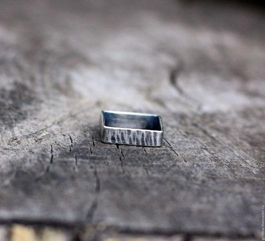 """Кольца ручной работы. Ярмарка Мастеров - ручная работа. Купить кольцо """"Квадрат два"""", серебро. Handmade. Серебряный, необычное кольцо"""
