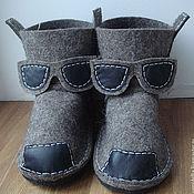 """Обувь ручной работы. Ярмарка Мастеров - ручная работа Тапки-валенки """"Очкарик"""". Handmade."""