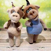 Куклы и игрушки handmade. Livemaster - original item Burenka Glasha and Fedor. Handmade.