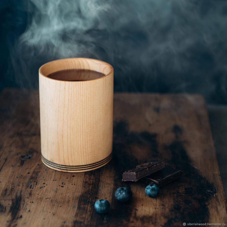 Drink glass made of natural wood Siberian cedar C24, Water Glasses, Novokuznetsk,  Фото №1