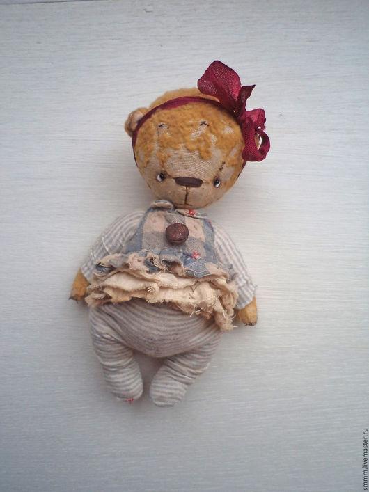Мишки Тедди ручной работы. Ярмарка Мастеров - ручная работа. Купить Мэри. Handmade. Бежевый, мишка тедди купить, трикотаж