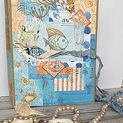 Фотоальбомы ручной работы. Ярмарка Мастеров - ручная работа Альбом для фото И снова о море. Handmade.