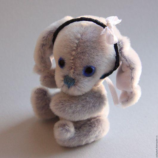 Мишки Тедди ручной работы. Ярмарка Мастеров - ручная работа. Купить Зайка Лили. Handmade. Голубой, миништоф, проволока