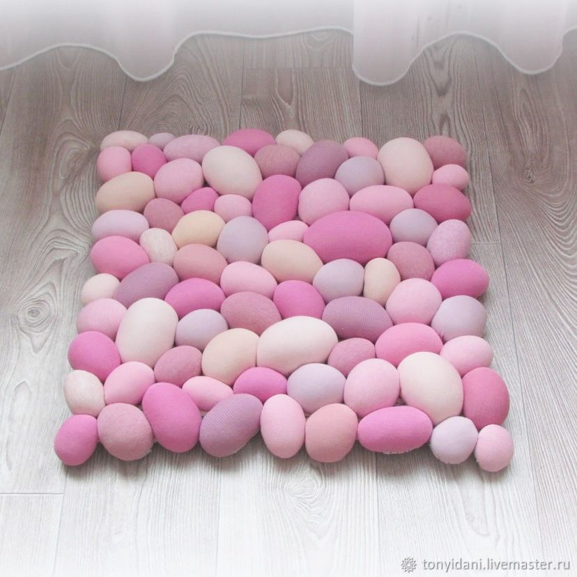 Massage Mat textile Imitation of pebbles All shades of pink, Floor mats, Novouralsk,  Фото №1