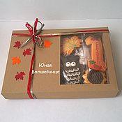 Сувениры и подарки ручной работы. Ярмарка Мастеров - ручная работа Подарочная упаковка - коробка крафт с широкими бортами. Handmade.