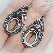 Материалы для творчества handmade. Livemaster - original item Basis for earrings