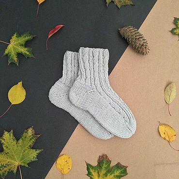 Аксессуары ручной работы. Ярмарка Мастеров - ручная работа Носки: носки с косами. Handmade.