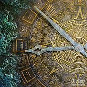 Для дома и интерьера ручной работы. Ярмарка Мастеров - ручная работа Майянское золото.(В НАЛИЧИИ) Настенные часы 80 см. Handmade.