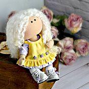 handmade. Livemaster - original item Miniature interior textile doll. Little baby doll. Handmade.