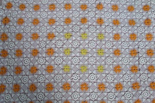 Текстиль, ковры ручной работы. Ярмарка Мастеров - ручная работа. Купить Утренние подсолнухи. Handmade. Белый, скатерть, хлопок