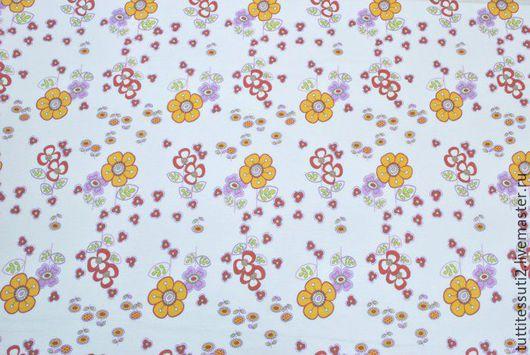 Шитье ручной работы. Ярмарка Мастеров - ручная работа. Купить Детский трикотаж 15-003-1389. Handmade. Белый, цветочки