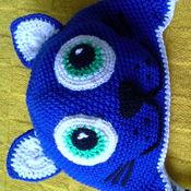 Работы для детей, ручной работы. Ярмарка Мастеров - ручная работа шапка в виде ласкового котенка. Handmade.