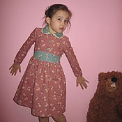 Работы для детей, handmade. Livemaster - original item Corduroy dress