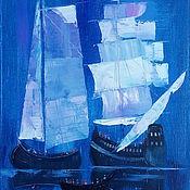 Картины и панно ручной работы. Ярмарка Мастеров - ручная работа Картина Вечер под парусами. Handmade.