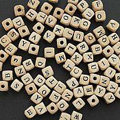 """Материалы для творчества ручной работы. Ярмарка Мастеров - ручная работа Бусины деревянные """"Английский алфавит"""", 96 штук. Handmade."""