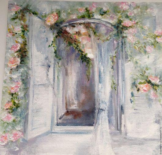 """Картины цветов ручной работы. Ярмарка Мастеров - ручная работа. Купить Картина маслом """" Как хороши , как свежи были розы..."""". Handmade."""