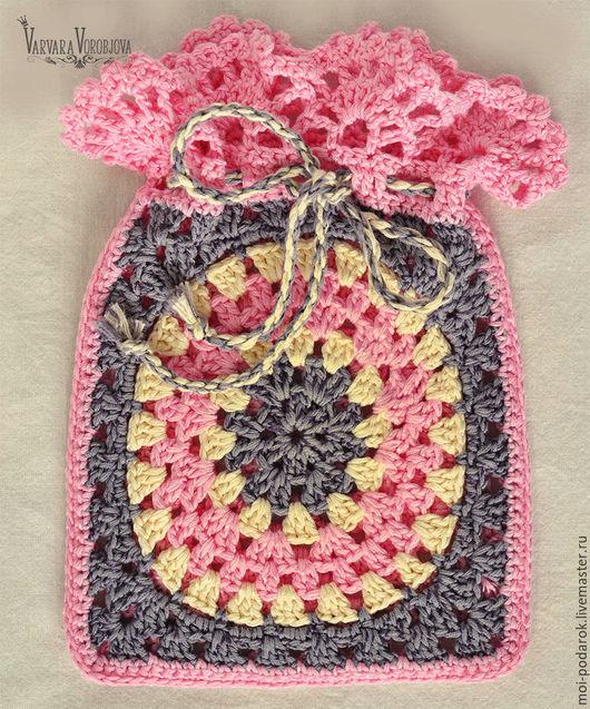 Подарочная упаковка ручной работы. Ярмарка Мастеров - ручная работа. Купить Вязаные мешочки для подарка или хранения мелочей. Handmade.