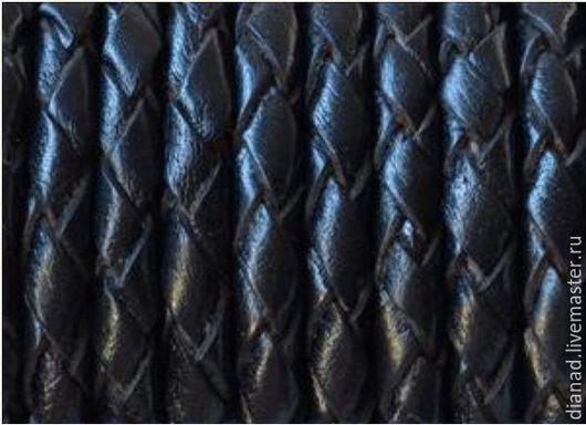 Для украшений ручной работы. Ярмарка Мастеров - ручная работа. Купить Кожаный плетеный шнур, круглый 5 мм, красный, черный, белый,коричневый. Handmade.