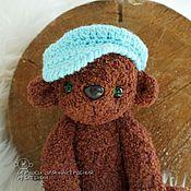 Куклы и игрушки ручной работы. Ярмарка Мастеров - ручная работа Мишка в кепочке. Handmade.