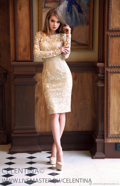 9f7bc4bbc10c5e6 Бежевое Платье из кружева. короткое вечернее платье, платье коктейльное,  платье на выпускной, платье на свадьбу, ...