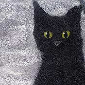 """Одежда ручной работы. Ярмарка Мастеров - ручная работа Котожилет """"Черный Кот и Серый день"""".. Handmade."""