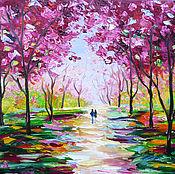 Картины и панно handmade. Livemaster - original item Lovers of Sakura. Handmade.