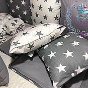 Работы для детей, handmade. Livemaster - original item Bumpers with removable pillowcases. Handmade.