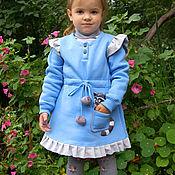 Работы для детей, ручной работы. Ярмарка Мастеров - ручная работа Платье Енот с меховой сумочкой. Handmade.